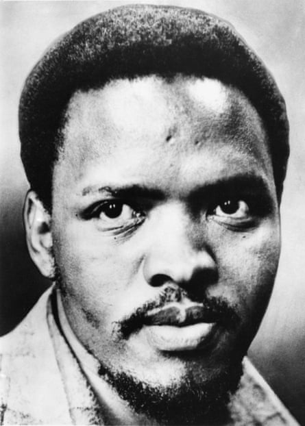 Steve Biko, South African leader of the Black Consciousness Movement, circa 1977