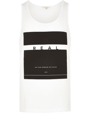 White printed vest