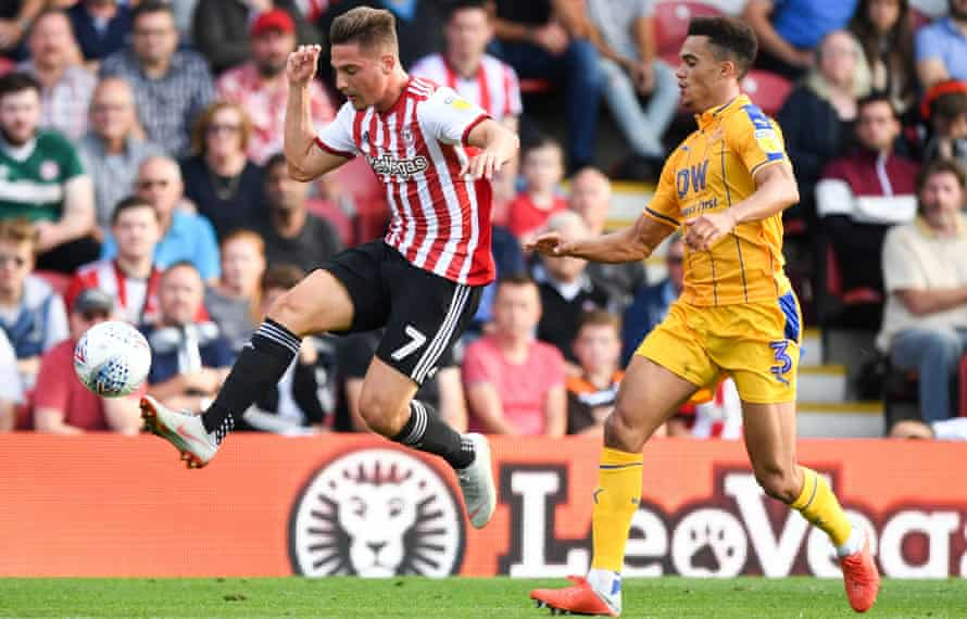 Sergi Canós, in action here against Wigan, says Brentford are capable of reaching the Premier League: 'Of course. You just have to come and watch us play.'