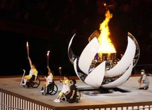 The cauldron is lit.