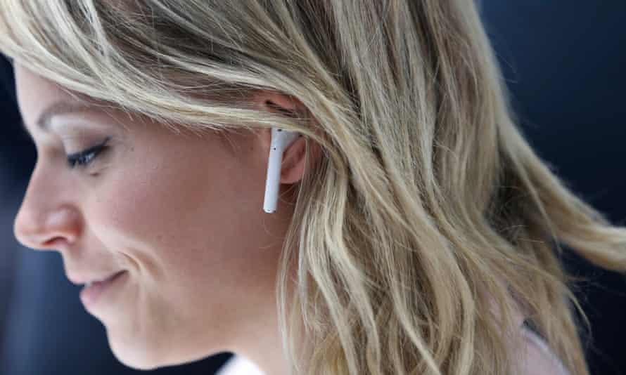 Apple AirPods, the tech firm's new wireless headphones.