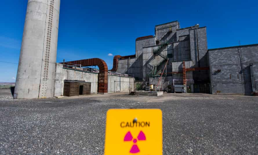 The historic B Reactor, is seen on the Hanford site in Washington.