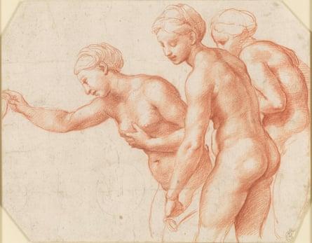 The Three Graces, circa 1517-18, by Raphael.