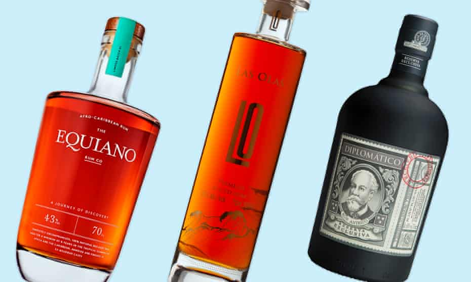 That's the spirit: bottles of Equiano, Las Olas and Diplomatico rum