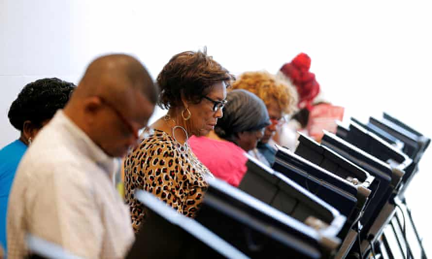 Voters cast their ballots during early voting in Charlotte, North Carolina, in 2016.