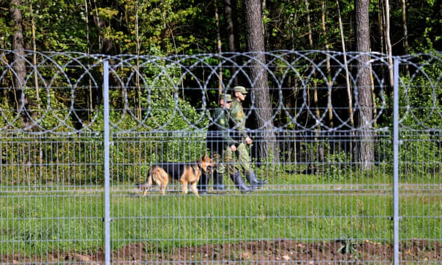 Belarus border guards on May 27, 2021.