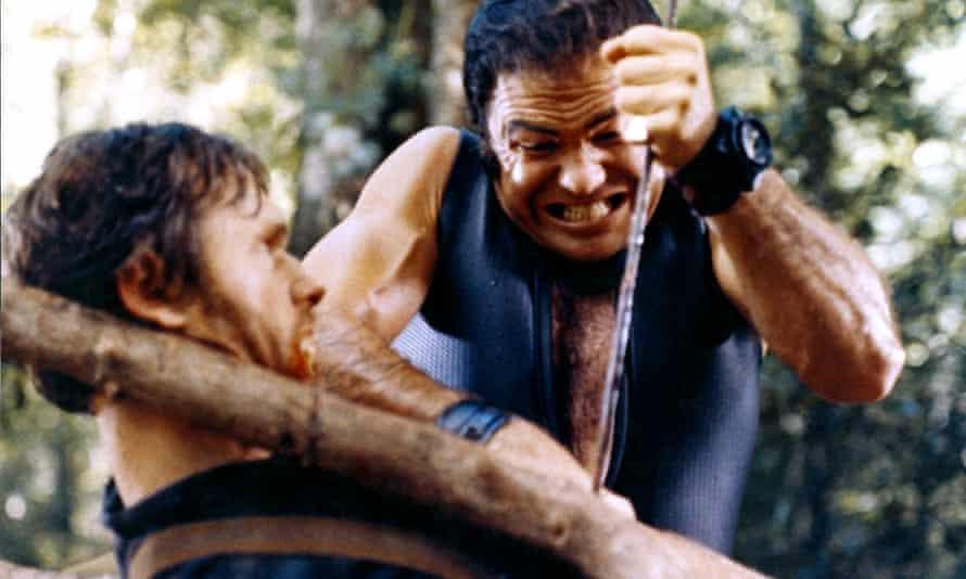 Bill McKinney and Burt Reynolds in John Boorman's 1972 film of Deliverance.