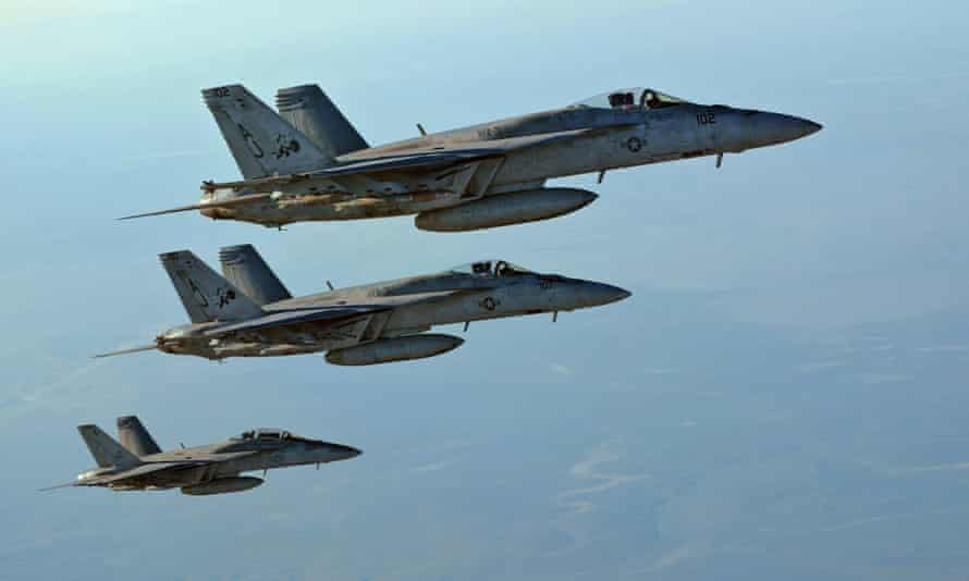 Coalition fighter jets and drones have been targeting Islamic State's financial system, including Monday's attack on a cash store in Mosul.