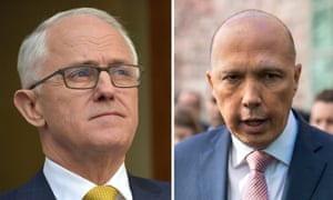 Malcolm Turnbull and Peter Dutton.