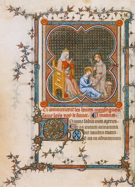 A miniature from the book of hours of Jeanne de Navarre (1336-40)