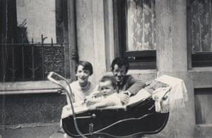 An infant Elvis Costello – then still Declan MacManus – with his parents.