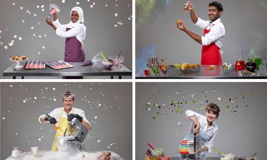 Semi-finalists, clockwise from top left: Nadiya Jamir Hussain, Tamal Ray, Flora Shedden and Ian Cumming.