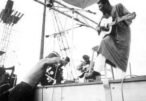 Richie Havens at Woodstock.
