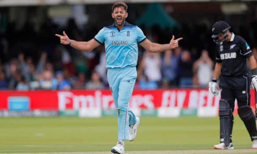 Liam Plunkett celebrates taking the wicket of New Zealand's Henry Nicholls during last year's World Cup final at Lord's.