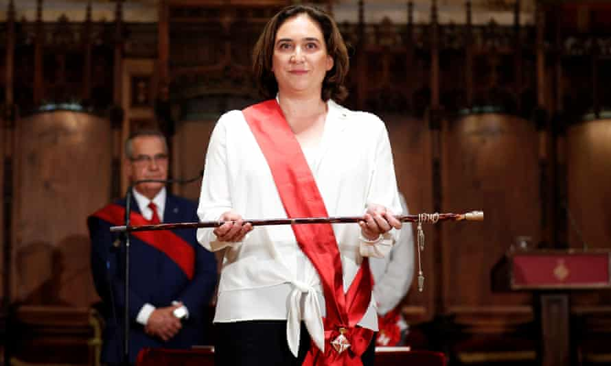 Ada Colau at her swearing-in ceremony as mayor of Barcelona.