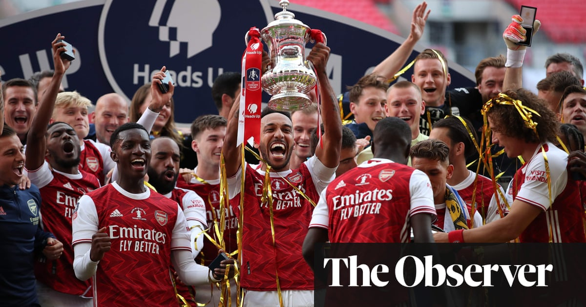 Aubameyang at the double as Arsenal turn tables on Chelsea to win FA Cup