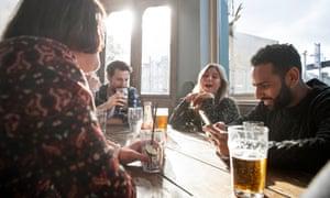 Friends at a pub