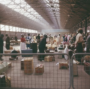 A view of the customs hall at Southampton docks in 1962