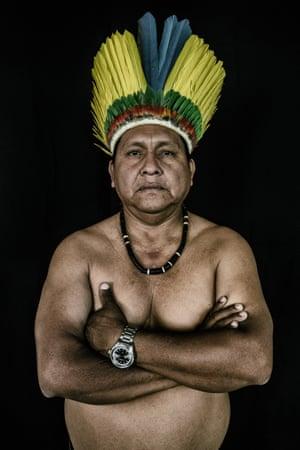 Dionito Jose de Souza, 51, from the Macuxi tribe in Uiramutã