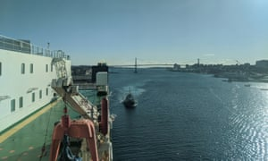 Arriving in Halifax after 15 days on board a cargo ship from Hamburg