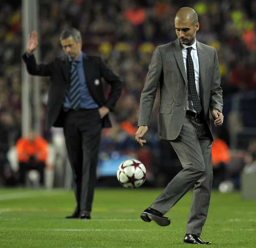 Pep Guardiola and José Mourinho meet for the second leg at the Camp Nou.