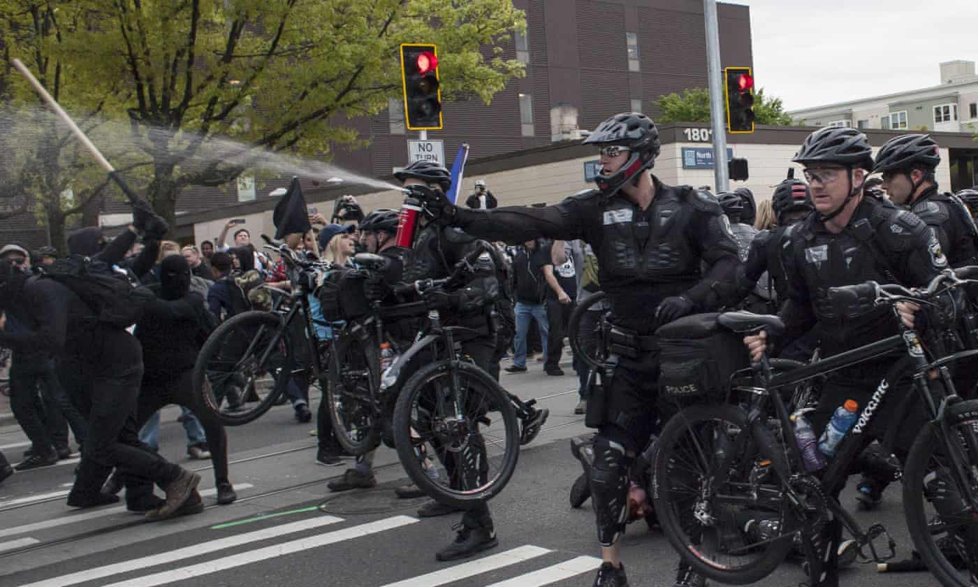 May Day protesters clash with police as violence erupts in Seattle and Oakland