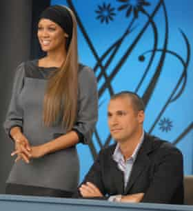 Tyra Banks with judge Nigel Barker on America's Next Top Model in 2003