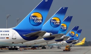 (FILE PHOTO) Travel Firm Thomas Cook In Talks With Banks Following Current Quarter Trading WoesMUNICH, GERMANY - APRIL 17: (FILE PHOTO) Thomas Cook airplanes are parked at Munich Airport on April 17, 2010 in Munich, Germany. The company has begun talks with their banks following a fall in trading during the current quarter and will delay releasing full year results until the discussions have been concluded. (Photo by Alexander Hassenstein/Getty Images) corporate business