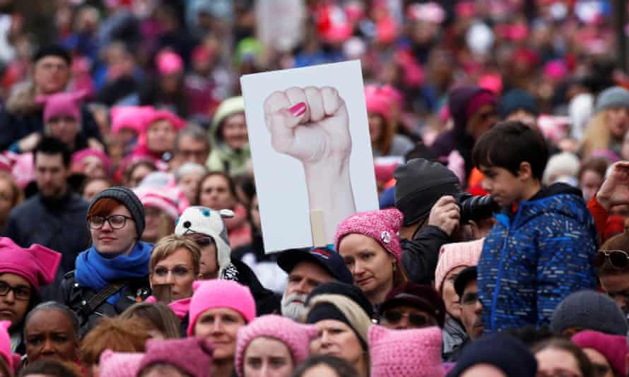 The women's march in Washington DC, January 2017