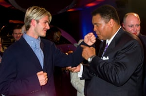 Beckham and Ali in 1999