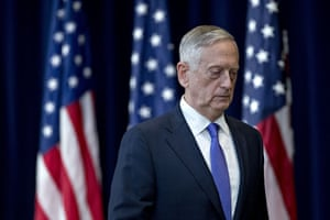 James Mattis in June last year. Mattis went to see the president on Thursday, and presented his resignation.