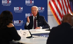 Biden at an economic roundtable discussion in. Philadelphia on Wednesday.