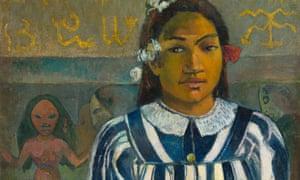Wearing a missionary-approved dress … a detail of Gauguin's Merahi Metua No Tehamana (Tehamana Has Many Parents).