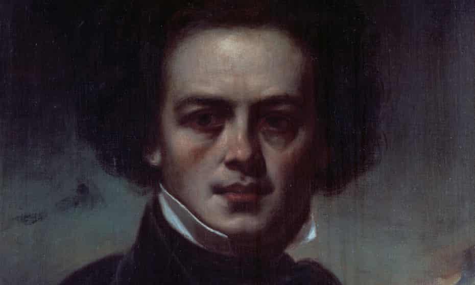 a portrait of Robert Schumann by an unknown artist.