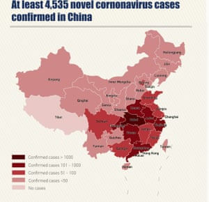 Chinese-government backed broadcaster, the China Global Television Network (CGTN) has published a map showing infections of the coronavirus by province.
