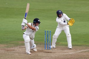 Ben Charlesworth of Gloucestershire batting.