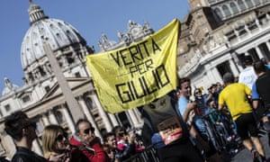 Banner for Giulio Regeni