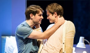 James McArdle (Louis) and Andrew Garfield (Prior) in Angels in America - Millennium Approches.