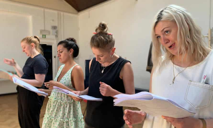 Rehearsals for Frankie Meredith's play Petticoat Council