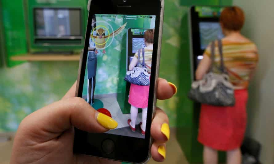 'We disparage that which we don't understand': a woman in Krasnoyarsk, Siberia, plays Pokémon Go.