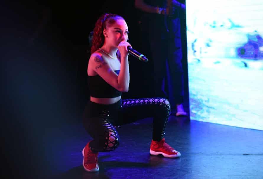 Danielle Bregoli, AKA Bhad Bhabie, on stage in Los Angeles