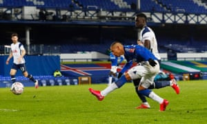 Everton's Richarlison scores their fourth goal.