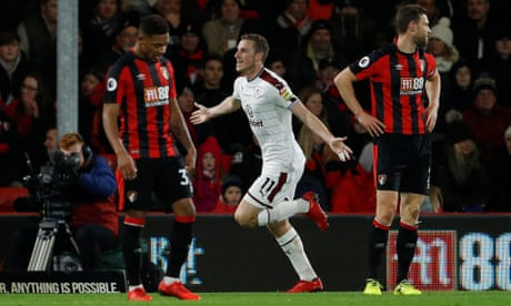 Chris Wood has Burnley galloping to victory at all-at-sea Bournemouth