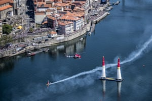 Martin Sonka of the Czech Republic takes part in the sixth round of the Red Bull Air Race World Championship