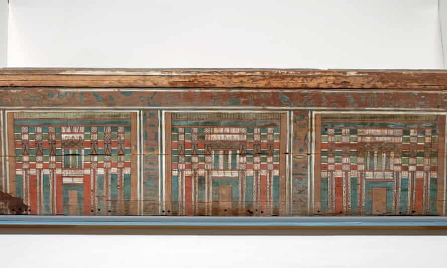 Painted wooden coffin for Nakht
