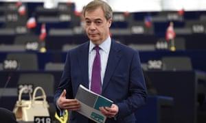 Nigel Farage at the European parliament