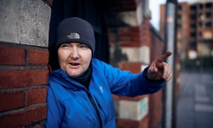 David Gallagher, who told of being attacked when he was homeless.