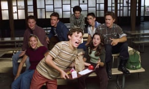 Judd's good friends … the cast of Freaks and Geeks.