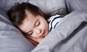 Posed picture of a girl sleeping.