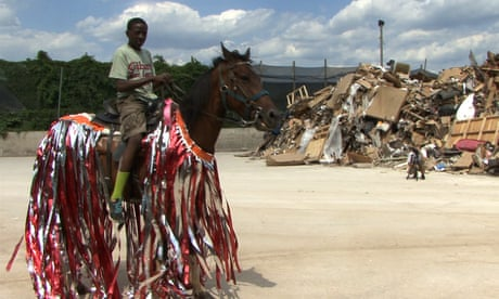 Horse Day … a still from Mohamed Bourouissa's video about riding subculture in Philadelphia.